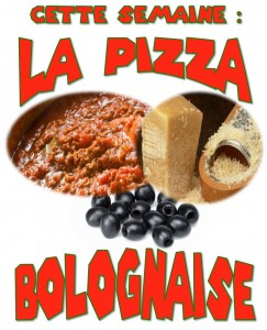 pizza boblognaise