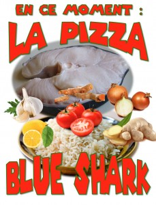 pizza peau bleu ou blue shark